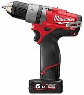 Акк. дрель/ш. Milwaukee M12 CDD-602X FUEL (Li-Ion6Ач)