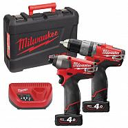 Набор Milwaukee M12 PP2A-402C (Li-Ion4Ач)