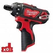 Акк. шуруповерт Milwaukee  M12BD-0