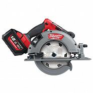Акк. циркулярная пила Milwaukee  M18 FCS66-121C FUEL (Li-ion12A/h) 4933464586